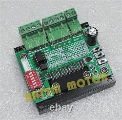 DEU 4 Axis Nema23 Stepper Motor CNC Controller Kit 76mm 270oz-in 3.0A+Driver