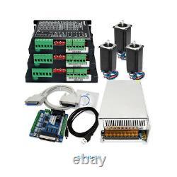 DIY CNC Kit 4 Axis 2.75N. M Nema23 MotorEMA2-050D56 Drivers 2.1A-5.6A 36V 10A PSU