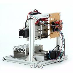 Desktop 3 Axis DIY Mini CNC Router Kit Wood Engraving Hobby PCB Milling Machine