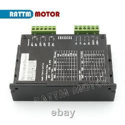 ES4 Axis Nema23 Dual shaft stepper motor 112mm 425oz-in 3A &Driver USB CNC Kit