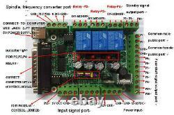 EU 4 Axis Driver Mach3 CNC Controller Kit Nema34 Stepper Motor 878oz-in 98mm 5A