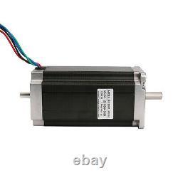 EU free! 3Axis Nema23 Stepper Motor dual shaft 425oz. In Driver DM542A CNC kit