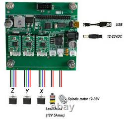 EU3 Axis 3018 PRO DIY CNC Router Kit Engraving Machine PCB / PVC Milling