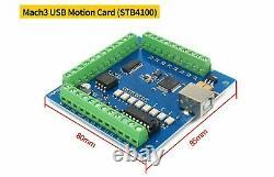 EU3 Axis CNC Kit MACH3 USB Breakout Board Nema 23 Stepper Motors Driver TB6600