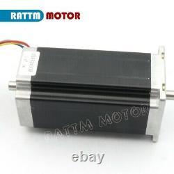 EU4 Axis Nema23 112mm Dual Shaft 425oz Stepper Motor 3A+CW5045 Driver CNC Kit