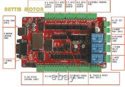 FR3Axis USB CNC Controller Kit Nema23 Stepper Motor Driver 425Oz-in Dual Shaft