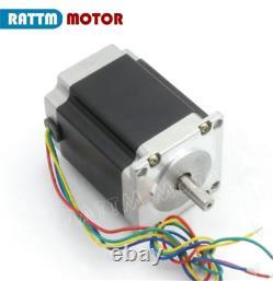 FR4 Axis Nema23 270oz-in 76mm Stepper Motor 3A Dual Shaft+TB6560 Driver CNC Kit
