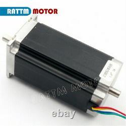 FRA 3 Axis Nema23 112mm Stepper Motor Dual Shaft 425oz. In CNC Kit+Driver+Power