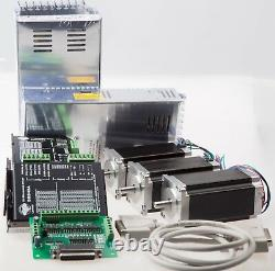 Free Ship3Axis Nema 23 Stepper Motor 435 oz-in 4.2A Driver Controller CNC Kits
