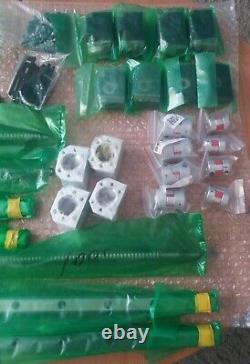 Hgr20 / Sfu1605 4 Axis Diy Cnc Kit. Guide Rail, Lead Screws & Accessories