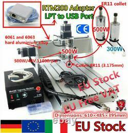 IT3 Axis 500W 3040Z-DQ USB Desktop Ballscrew CNC Milling Engraving Machine Kit