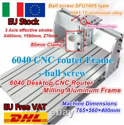 IT3 Axis Desktop 6040 CNC Router Milling Engraving Machine Ball Screw Kit 80mm