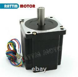 IT4 Axis CNC Kit Nema 34 Stepper Motor 878oz-in+ Driver+ 400W 48V power supply