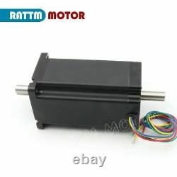 ITNema34 4 Axis CNC Stepper Motor Driver Kit Dual Shaft 1600oz. In/L154mm/4Leads