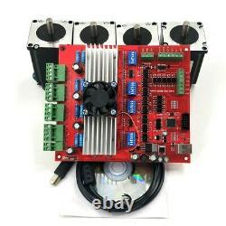 MACH3 CNC 4-Axis Kit TB6560 Stepper Motor Driver Board Controller+Nema23+Power