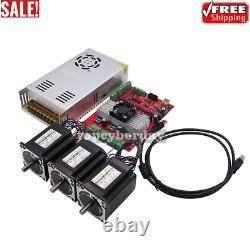 MACH3 USB 3-Axis CNC Kit TB6560 Stepper Motor Driver Board + 3pcs Nema23+Power