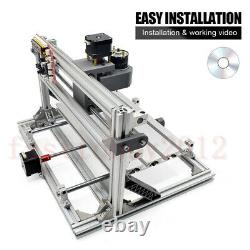 Mini 3-Axis CNC Router Kits Engraving Carving Machine for PCB PVC Milling Wood