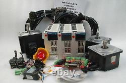 Mitsubishi Servo 1kw 750w, 3-axis Kit, Driver Motor, Mr-j2s-70a, Cnc, Router Working