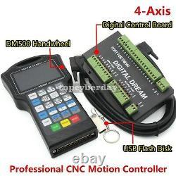 Motion Controller Kit Handwheel CNC Router DM500 4 Axis 500KHz 2021