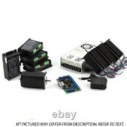 NEMA23 4-Axis CNC Kit (48V/12.5A 570oz-in KL-5056) (110V/220VAC)
