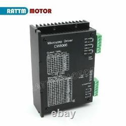 NEMA34 4 Axis Stepper motor cnc kit 878oz-in 4A+Driver 24-80V 6A+5Axis boardDE