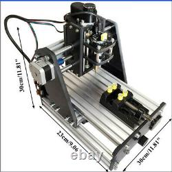 NO VAT Mini 3 Axis CNC Router Kit Wood PCB Milling Carving Engraving Machine