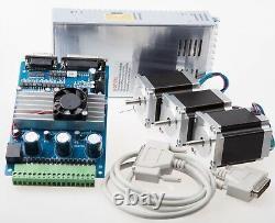 Nema 23 Stepper Motor 290oz-in +3 Axis TB6560 Board CNC Kit /Router FREE ship