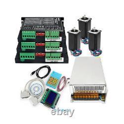Pro 3 Axis CNC Kit Nema23 2.75N. M Stepper Motor 2.1A-5.6A Digital Stepper Driver