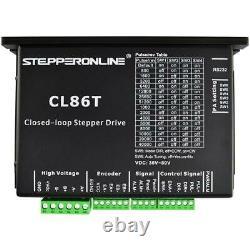 STEPPERONLINE 3 Axis 12Nm Nema 34 Closed Loop Stepper Motor Servo Driver CNC Kit