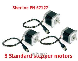 Sherline PN 8770 4 axis CNC controller, Power Supply + 3 Standard Stepper Motors