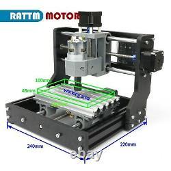 UK3 Axis CNC 1610 PRO DIY CNC Router Kit Wood Engraving Machine PCB/PVC Milling