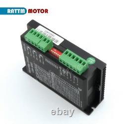 UK4 Axis Nema23 112mm Stepper Motor Dual Shaft 425oz-in+CW5045 CNC Driver Kit