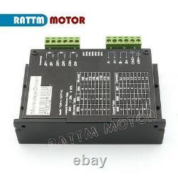 UK4 Axis Nema23 112mm Stepper Motor Dual Shaft 425oz-in+USBCNC CNC Driver Kit