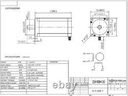 US Ship! 3Axis Nema 23 Stepper Motor 425oz-in 3.0A&Driver DM542A CNC Router kit