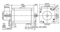 US Shipped 4 Axis CNC Kit 425oz. In Nema 23 Stepper Motor & KL-5042E Driver