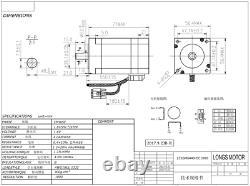USA FREE! 4Axis Nema23 Closed-Loop Stepper motor 1.1N. M 4A&Driver HBS57 CNC KIT
