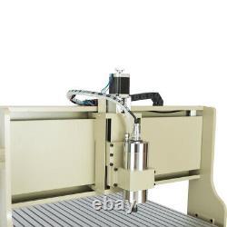 USB 4 Axis 6090 CNC Router Engraver Engraving Driling Milling Machine Kits 1500W