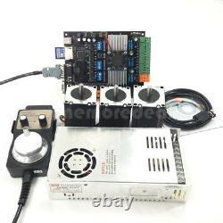 USB CNC 3 Axis Nema23 Stepper Motor 57+MDK2 Motor Controller Board MPG KIT #om9