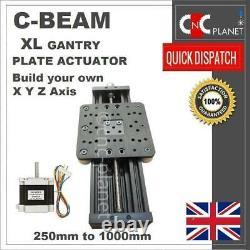 X Y Z AXIS DIY KIT CNC ROUTER PLASMA BLACK C-BEAM ACTUATOR with XL Large Gantry