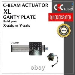X Y Z AXIS KIT For CNC ROUTER PLASMA LASER C-BEAM ACTUATOR with XL Large Gantry