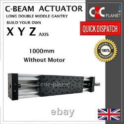 X Y Z Axis Kit Cnc Router Plasma C-beam Long Double Wide Gantry Plate Actuator